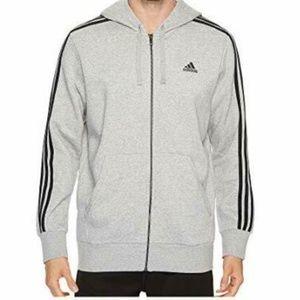 Adidas Essentials Logo Black Jacket Full Zip L